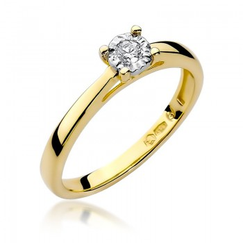 Goldener Ring pr 585 Diamant 0,08 ct