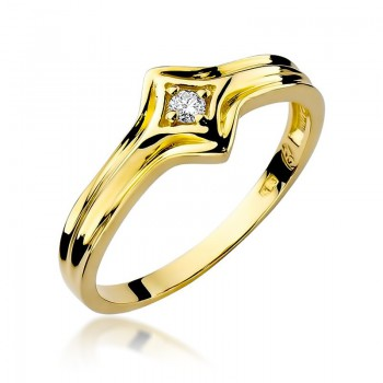 Goldener Ring pr 585 Diamant 0,05 ct