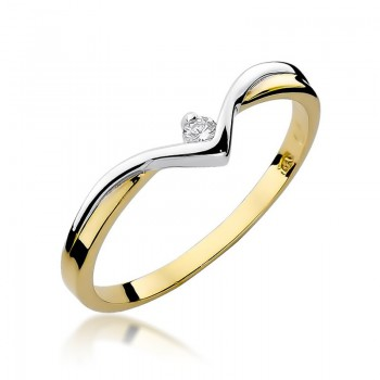 Goldener Ring pr 585 Diamant 0,04 ct