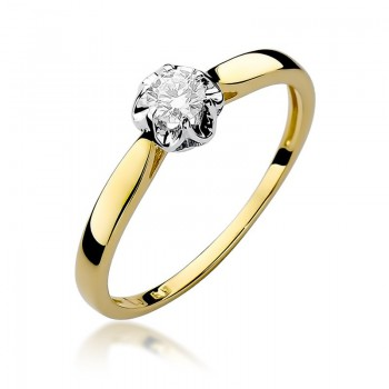 Goldener Ring 585 Diamant 0,15 ct